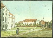 Das Theologische Seminar in Barby etwa zu der Zeit, wo Friedrich Schleiermacher dort war