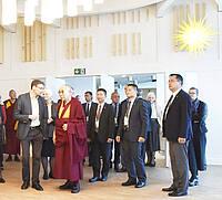 Der 14. Dalai Lama im Raum der Sozietät Bern; Foto: Christoph Knoch, http://cknguemligen.jalbum.net