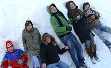 Schülerinnen und Schüler der Christian-David-Schule in Kalna und Grostona (Lettland)