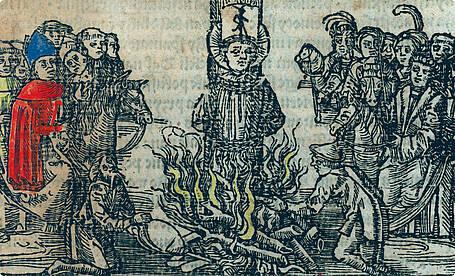 Der tschechische Reformator Jan Hus wird 1415 als Ketzer in Konstanz verbrannt